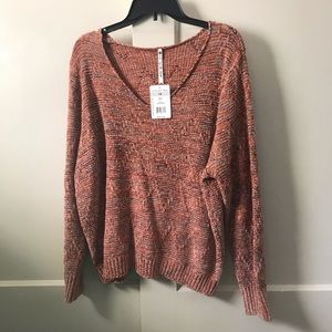 Copper Marbled Sweater NWT